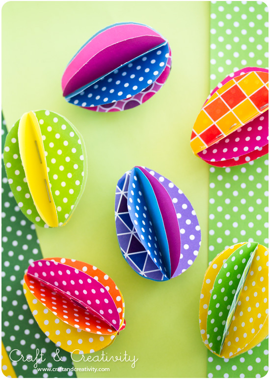 "Яркие ""крашенки"" из картона к празднику Пасхи."