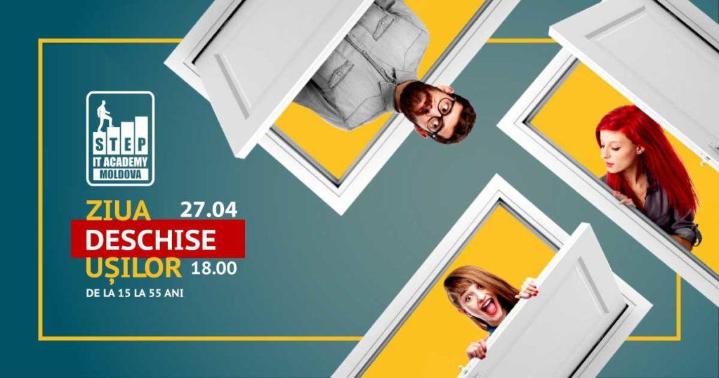 Ziua Ușilor Deschise la STEP IT Academy Moldova! Intrarea liberă. (RO)