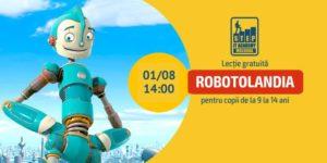 Открытый урок «Роботолaндия» для детей 9-14 лет (RU/RO).