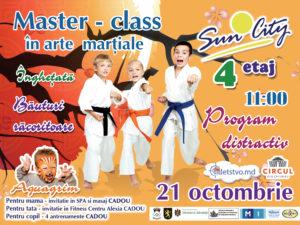 Мастер-класс по восточным единоборствам для детей и родителей (RU/RO)