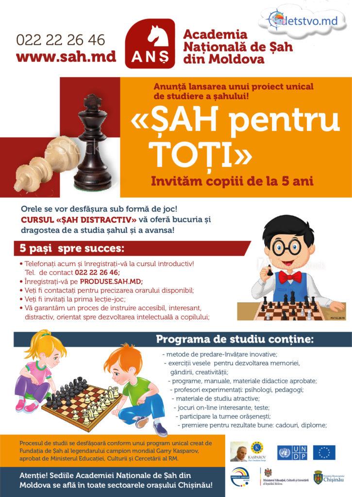 Un proiect unic în predarea de șah (RO)