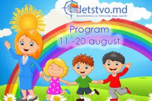 Program. Unde mergem cu copilul în perioada 11-20 august 2018 (RO)