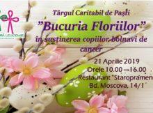 """21 aprilie-târgul de caritate de Paști """"Bucuria Floriilor""""(RO)"""