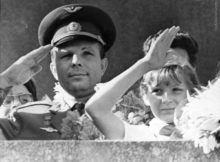 Космонавт Юрий Гагарин в Молдове.